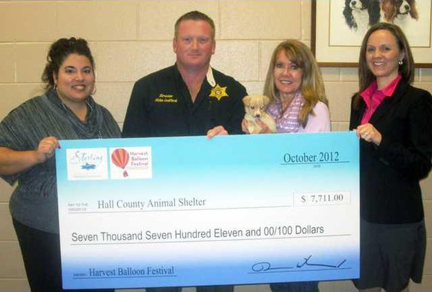 Sterling - Hall Co Animal Shelter Donation 11-27-12