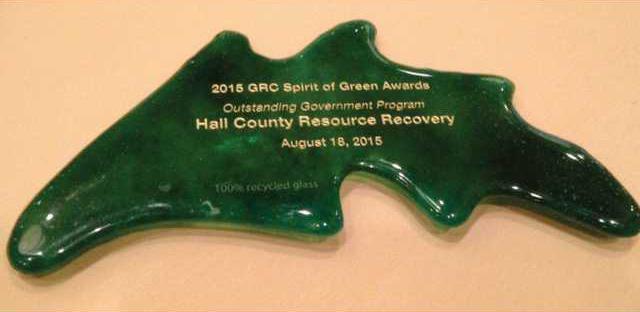 Hall County recycling program award