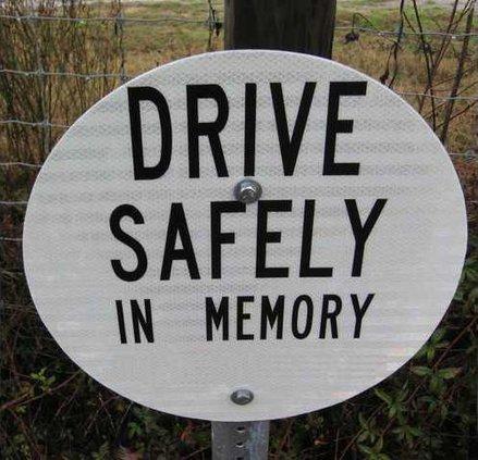 fatality memorial sign
