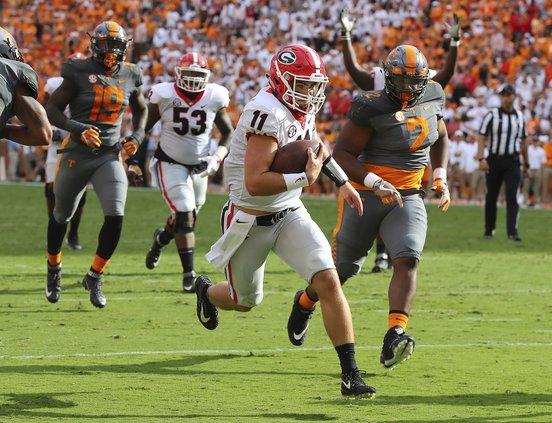 Georgia vs. Tennessee football