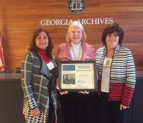 Gainesville High history award 2017