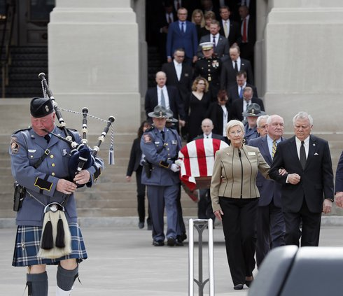 Zell Miller's funeral at Capitol