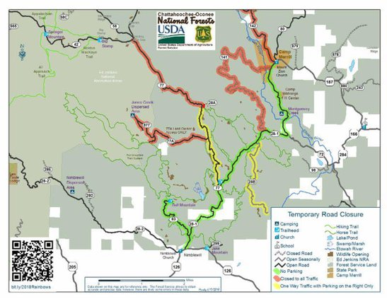 U.S. Forest Service map