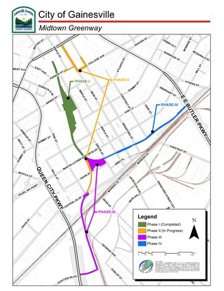 Midtown Greenway map