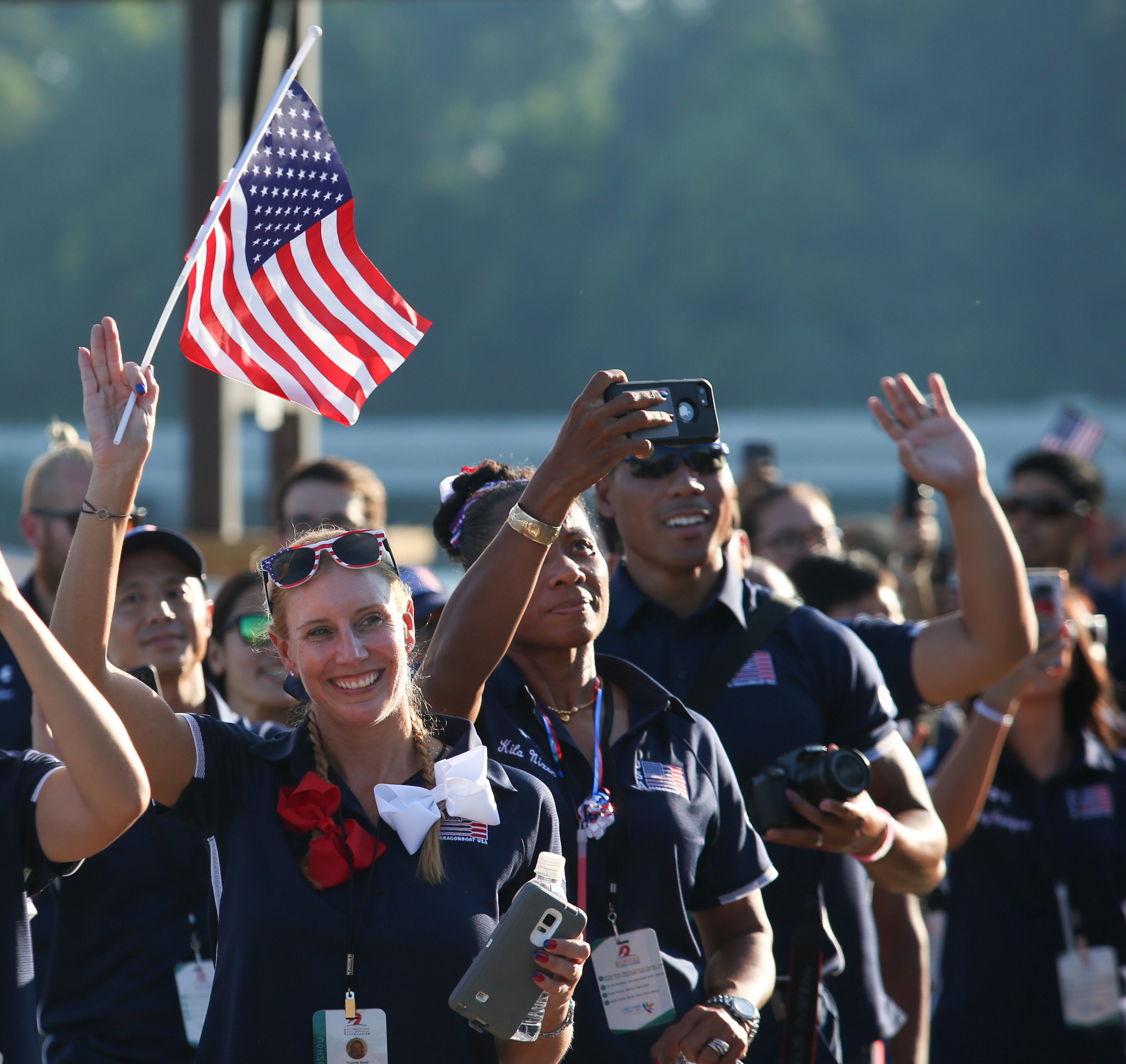 Team USA parades in during opening ceremonies
