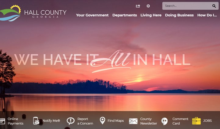 Hall County website
