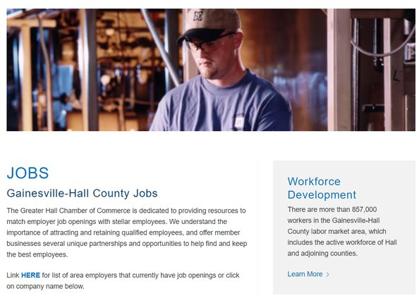 Chamber jobs site