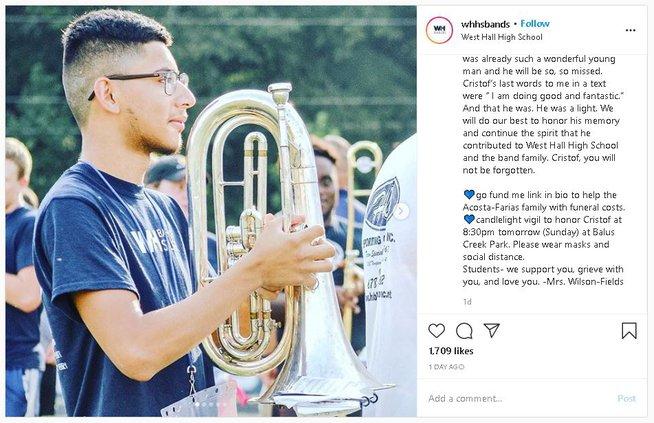 West Hall bands Instagram post