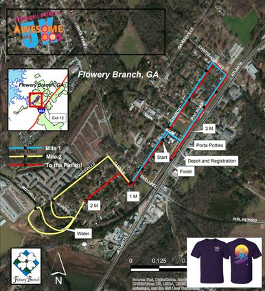 Race route, Aug. 15, 2020