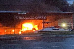 Bulldog Carts fire
