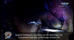 Drones explore gold mines