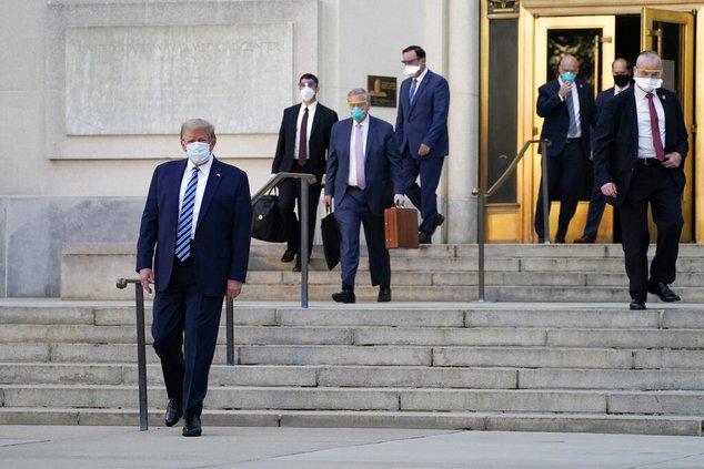Trump leaves hospital