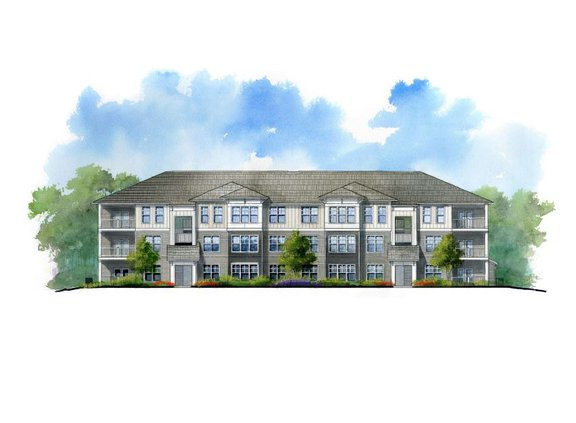Proposed Spout Springs apartment complex rendering