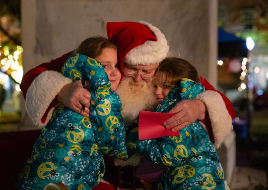 The Jingle Mingle has been canceled, but Santa still plans to sit on the square