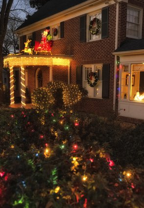 Map Of Houses Open For Christmas On Green Street, Gainesville, Ga 2021