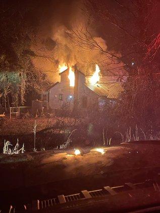 Old Cornelia Hwy house fire