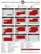 GCSS calendar 2021-22 school year