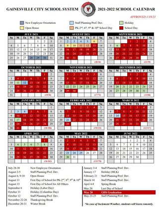 Gwinnett County Schools Calendar 2022.Gainesville 2021 22 School Calendar Features Phased In Start Gainesville Times