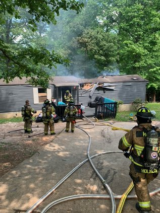 Mobile home fire in East Hall Saturday is under investigation
